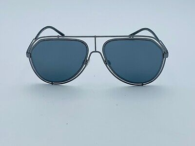 Dolce & Gabbana Sunglasses DG 2176 Gunmetal Gray Trendy Metal Gray Mirror (Dolce And Gabbana Mirror Sunglasses)