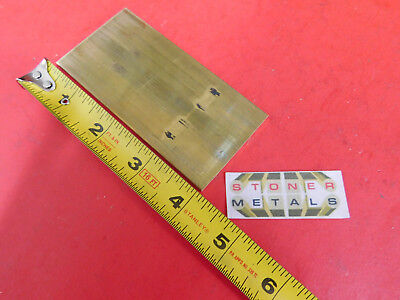 18 X 2 C360 Brass Flat Bar 4 Long Solid Plate Mill Stock H02 .125x 2.00