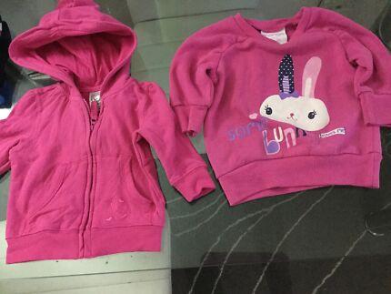 Baby girl hoodie, jumper and white dress $1 each Kogarah Rockdale Area Preview