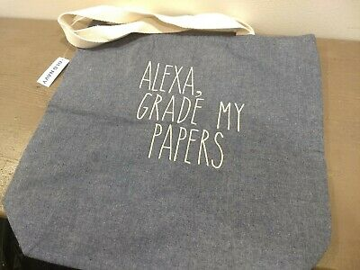 Alexa Grade My Papers Old Navy Teacher Canvas Tote Bag Teacher Appreciation Gift