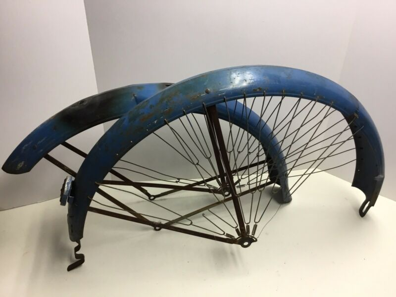 "Prewar Bicycle Westfield Columbia 26"" Balloon Tire Fenders Skirt Guard Womens"