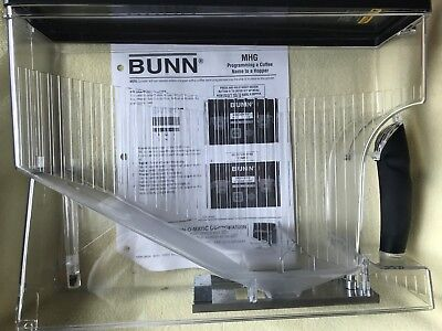 Bunn 36845.0000 Coffee Grinder Hopper W Lid Assembly Mhg