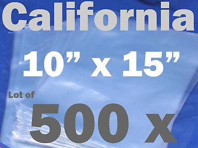 Lot Of 500 Piece Heat Shrink Wrap Film Flat Bags 10x15 Candles Pvc 10 X 15