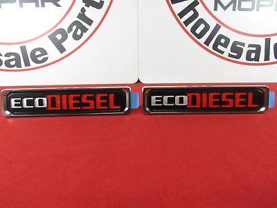 DODGE RAM 1500 Set Of 2 Front Fender Platinum Eco Diesel Badge NEW OEM (Eco Badge)