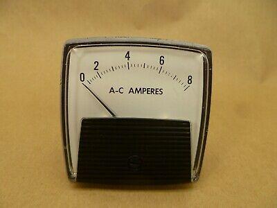 Vintage General Electric Ac Amperes Panel Meter Gauge Amp Gauge