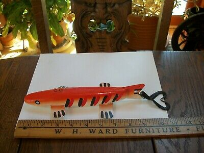 "VINTAGE 9"" DUEY JOHNSTON RATTLER FISH DECOY AWESOME BAR PERCH!!! NICE"