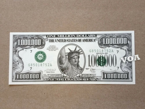 One Million Dollar Bill - Become a Millionaire Now! Same size as Real Money