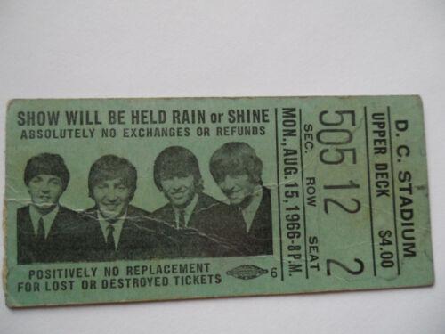 THE BEATLES__1966__Original CONCERT TICKET STUB__D.C. Stadium