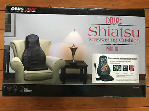 Chair black leather back massager