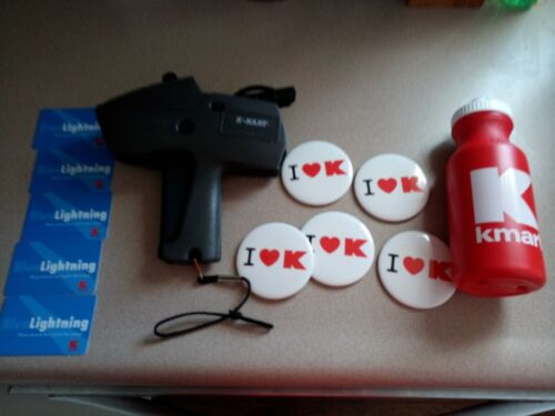 Kmart Store Lot: Price gun, Buttons, Cards, Bottle, Department Store Collectible