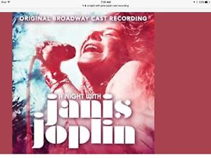 Selling 2 tickets for a night with Janis