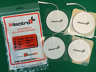 40 Round Replacement Electrode Pads For Massagers Foam Stim Pads 2.75