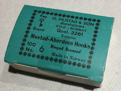 100 Mustad 3665A Streamer size 6 Hooks 6x long Made in Norway Fly Tying Hooks