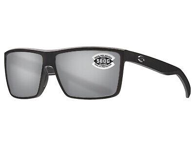 71494fc9fd061 NEW Costa Del Mar RINCONCITO Matte Black   580 Silver Gray Mirror Glass 580G