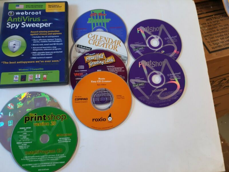 Vintage PC software CDs Lot