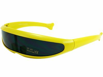 Trekkie Robot Devo Hairband 80s Robotica Party Cyclops Sunglasses Yellow