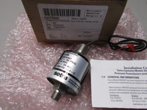 Setra Systems C206 Transmitter P/N 206120-04-C 0-50psi
