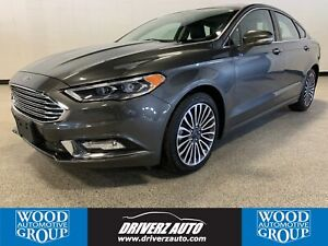 2017 Ford Fusion SE CLEAN CARFAX, AWD, HEATED LEATHER SEATING...