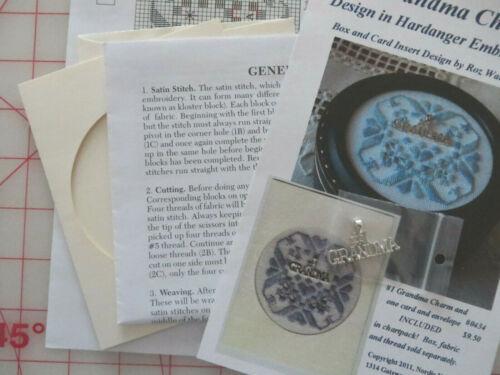 Nordic Needle #1 GRANDMA Design in Hardanger Embroidery W CHARM & CHART