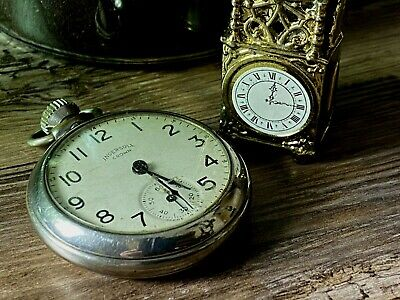 Antique Ingersoll Crown Pocket Watch Circa 1920'