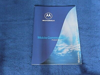 Motorola v3688 StarTAC 130 2700 Satellite & others UK Range Brochure Very Rare
