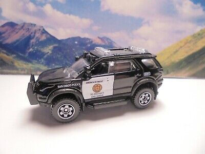 2012 FORD EXPLORER POLICE   2019 Matchbox Rescue Series    Black
