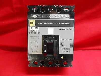 Square D Circuit Breaker Fal34100 100amp 3-pole 480vac New In Box