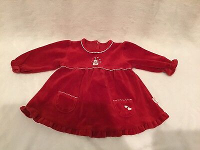 Le Top Baby Girl Dress Size 6 Months Snowman In VGUC