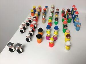 Fisher Price vintage Little People, 56 plastic people