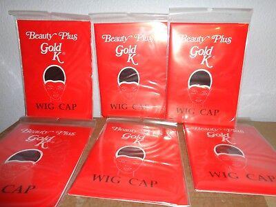 Lot of 6 Black Wig Cap Caps NEW Control Without Pins](Wig Caps Bulk)