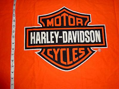 Harley Fabric (HARLEY DAVIDSON Fabric ORANGE SHIELD - Fat SQ 19