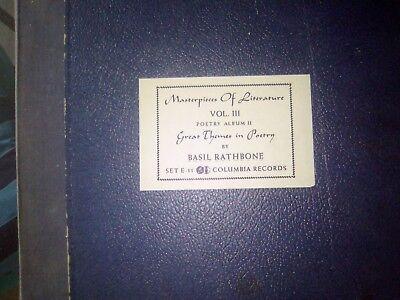 BASIL RATHBONE 78ER SCHELLACKALBUM 1948 SIGNIERT