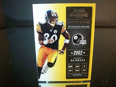 Plaxico Burress Playoff Season Ticket 2002 Card #23 Pittsburgh Steelers NFL