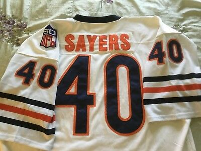 - GALE SAYERS Throwbacks 1969 NFL 50th ANNIVERSARY Mitchell Ness JERSEY size 56