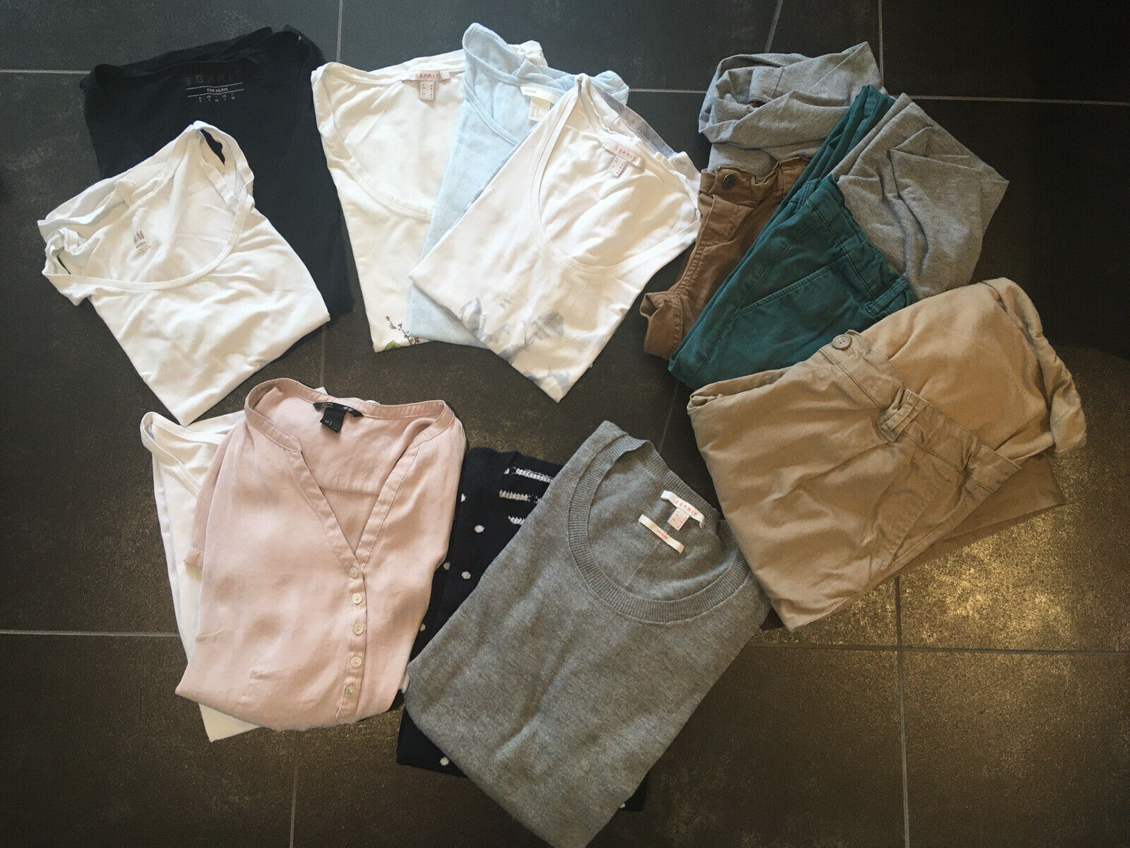 Umstandskleidung Paket Hosen, Oberteile, Esprit, H&M, etc, Größe S/M