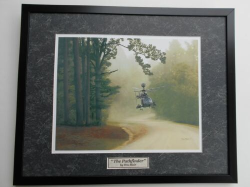 "The Pathfinder -  OH-58D ""Kiowa""     Dru Blair -   Military Art  Framed"