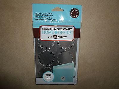 18 Martha Stewart Home Office Metallic Embossed Mailing Sealsnew In Package