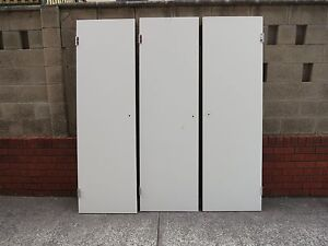 White Cupboard Doors with Satin Finished Handles Camden Camden Area Preview