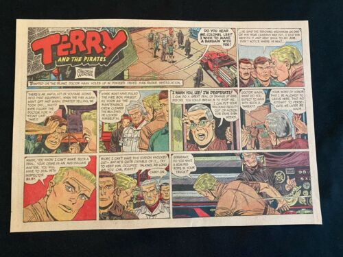 #54 TERRY AND THE PIRATES by George Wunder Lot of 10 Sunday Half Pages 1968