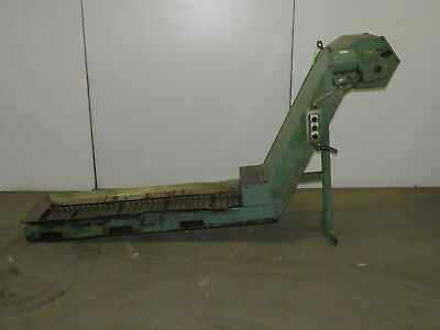 Enomoto Incline Chip Conveyor 12 Belt 38 Discharge 4 Fpm