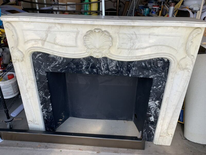 Marble Fireplace with electric fire place