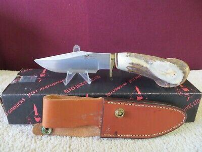 Rare Vingtage Blackjack Black Jack Limited Edition Trailguide Crown Stag Knife