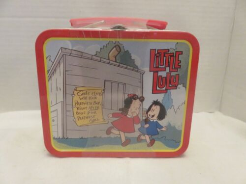 Vintage Little Lulu Girls Club Collectible Tin Lunch Box w/ Candies LE New