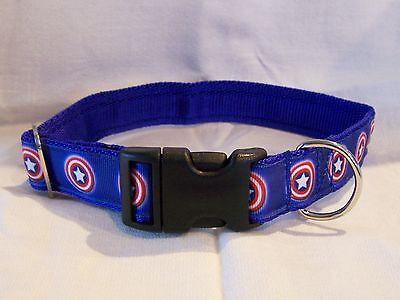 Hund Captain America (Captain America dog collar or lead blue medium/large dogs)
