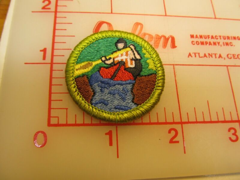 Scout stuff backed WHITEWATER merit badge emblem NEW STYLE patch (yZ)