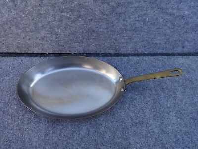 Sur La Table French Copper Oval Skillet Brass Handle Made in France 12