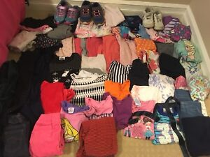 Over 60 pieces of clothing!!  Girl size 5