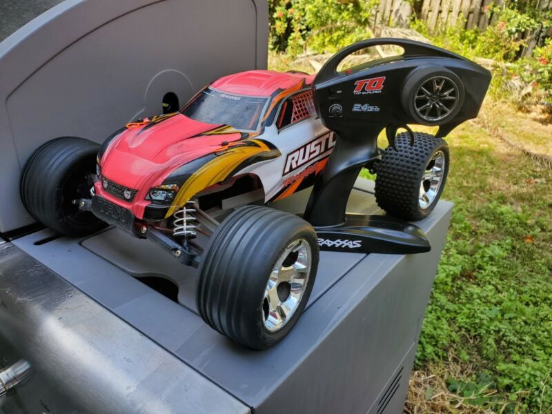 Traxxas Rustler PINK xl-5 brushed RTR w/ Steel Axles *Fully Functional*