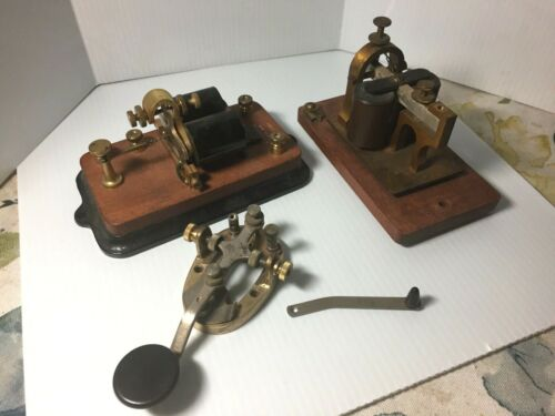 Antique Signal Electric Telegraph Relay Sounder 150 Ohms & 3 Other Extras