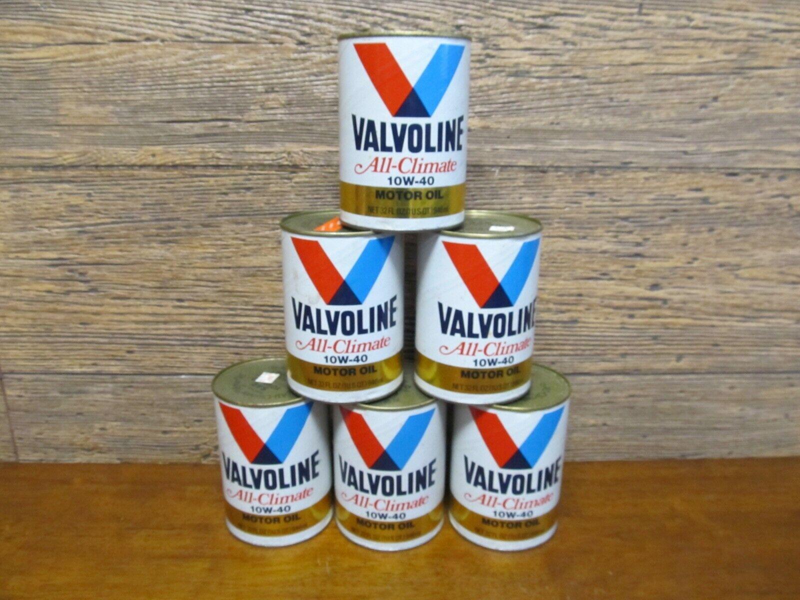 NOS Vintage Valvoline All Climate 10W-40 Motor Oil 1 QT. Oil